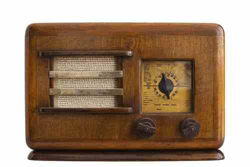 Photograph of old-fashioned radio
